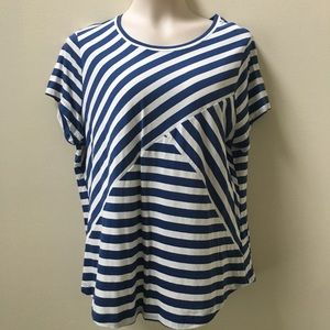 Chaps Striped Sailor Tee Sz XL